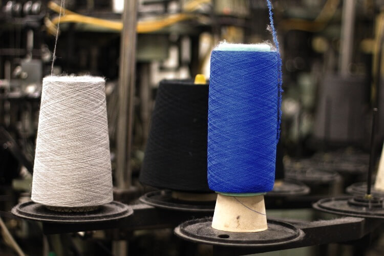 製作襪子的紗線