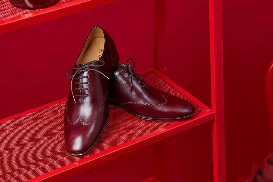 翼紋縫線牛津鞋