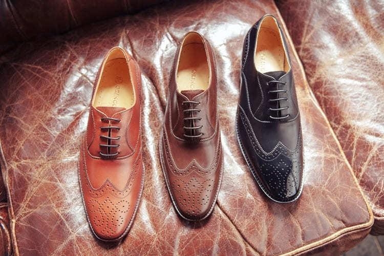 翼紋雕花牛津鞋