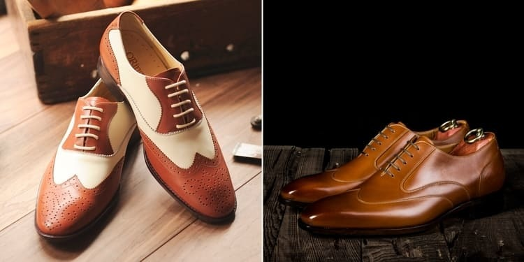 觀者翼紋牛津鞋 右為 Austerity Brogues 翼紋牛津鞋