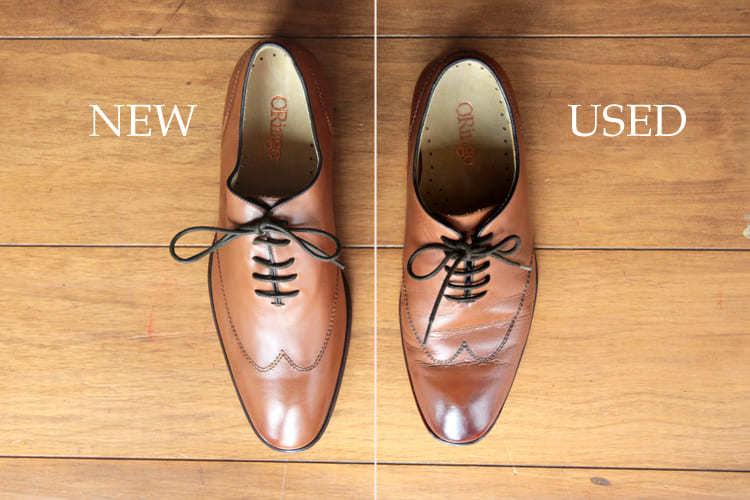 圖左為新鞋 圖右為著用約兩年