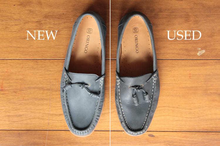 圖左為新鞋 圖右為著用約一年半