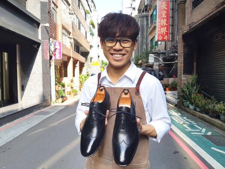 台北中山店EDDIE推薦-WHOLE-CUT 翼紋縫線牛津鞋