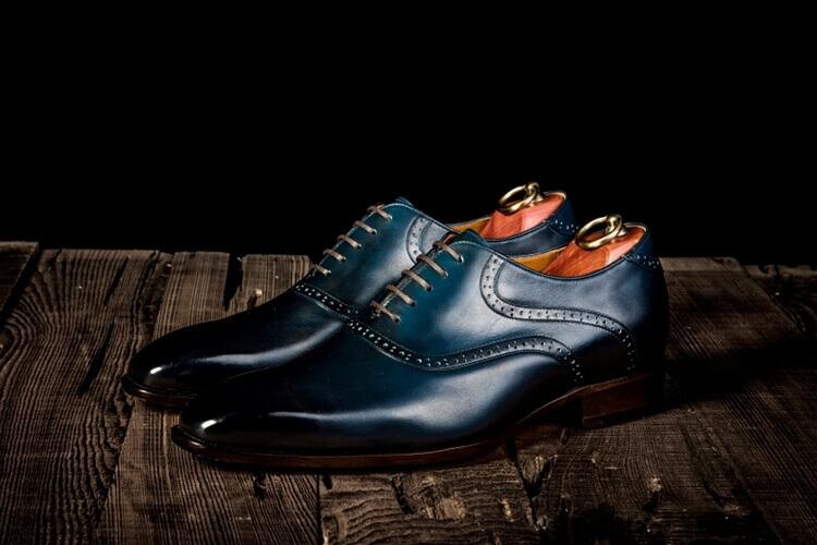 林果premium藍色鞍部牛津鞋