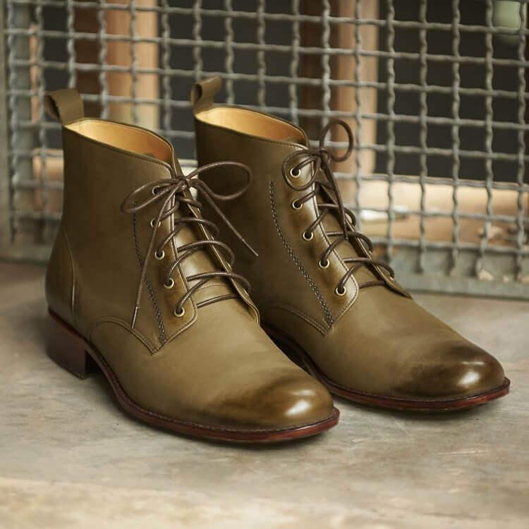 日式軍靴復刻版軍綠色
