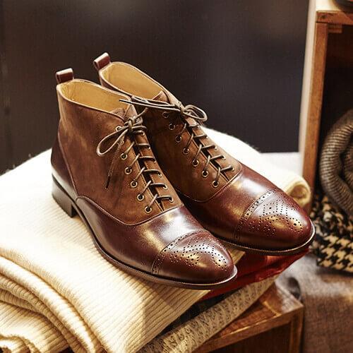林果酒紅色巴爾莫勒皮底靴
