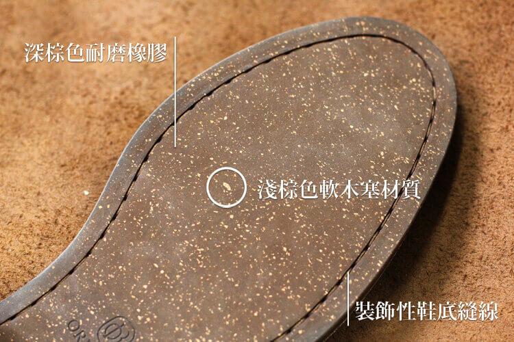 工作鞋底部細節