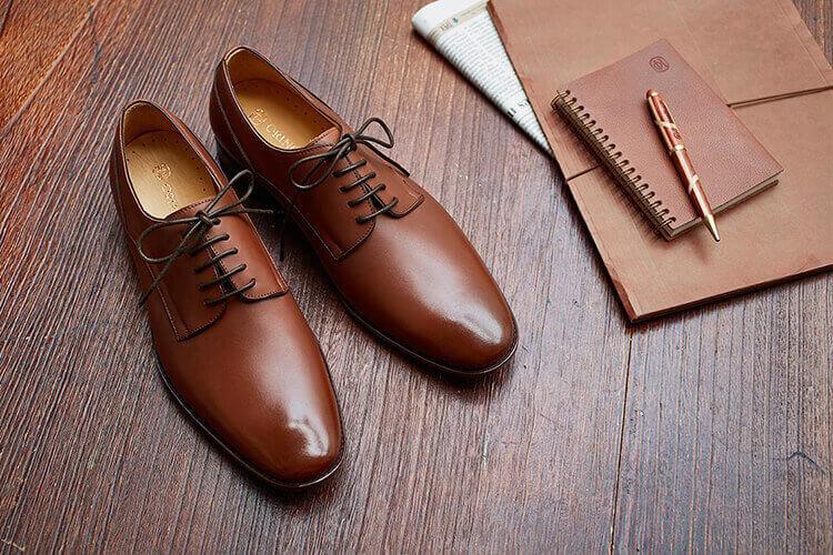 林果鑲邊飾線德比鞋