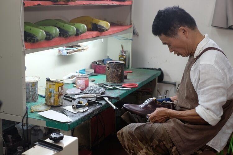製鞋工具們與製鞋師傅