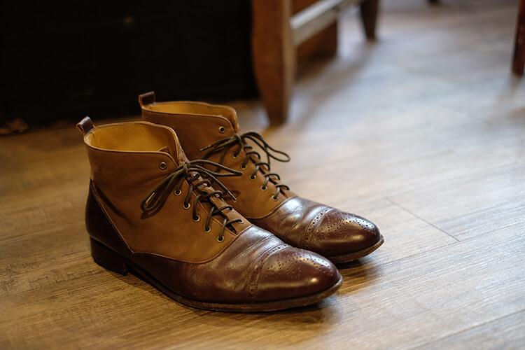 老舊的巴爾莫勒靴