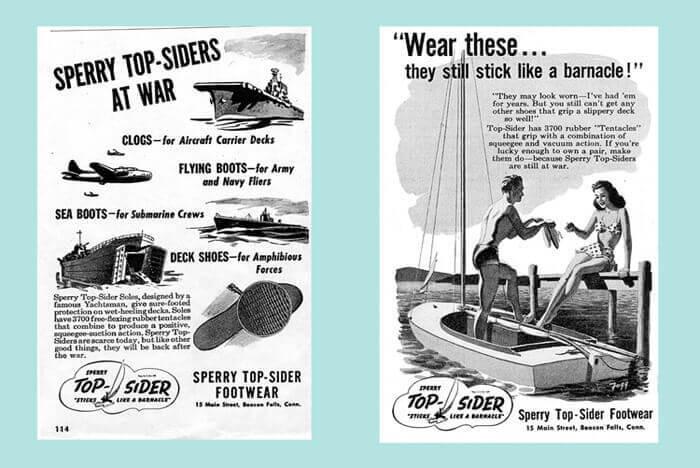 帆船鞋彩色復古海報