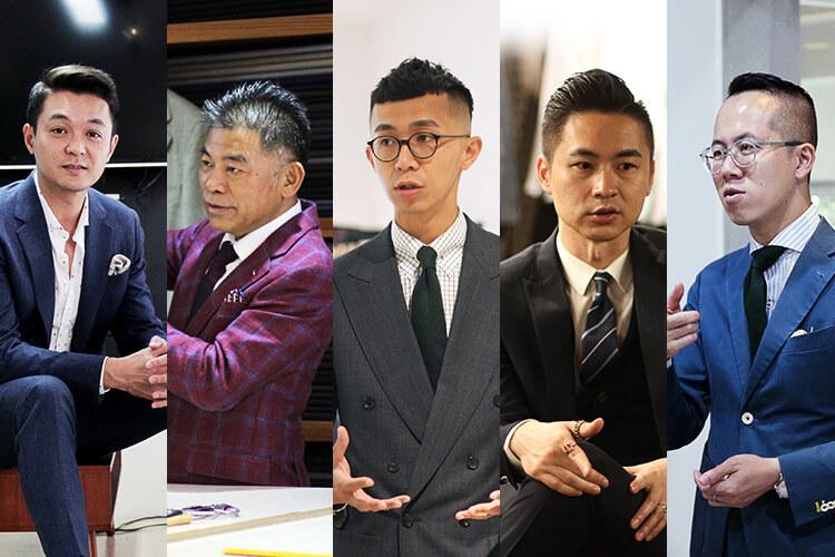 五個穿西裝的男人