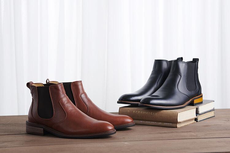 雀爾喜靴的特色為前後兩片皮料的接合