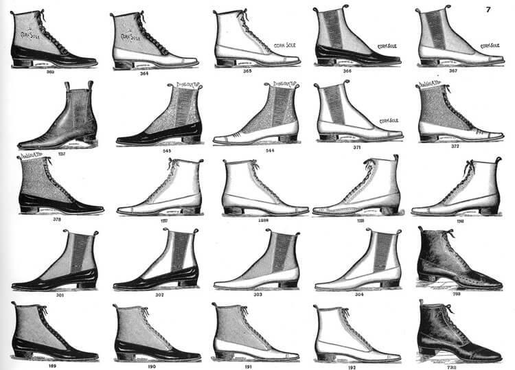硫化橡膠 (鬆緊帶)開始被廣泛運用於靴子的款式