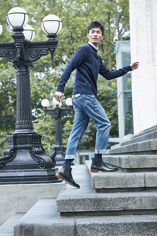 雀爾喜靴搭配牛仔褲