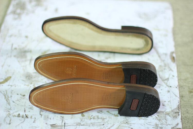 貼上後跟的皮革大底-台灣製造皮鞋