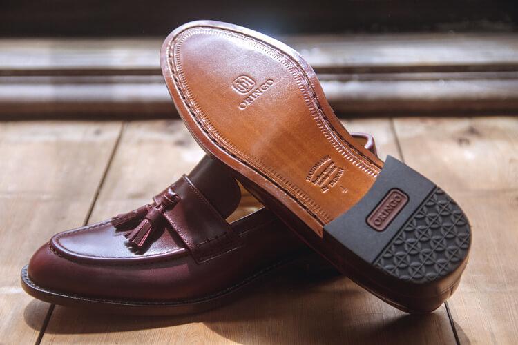 酒紅色鞍片流蘇樂福鞋-台灣製造皮鞋