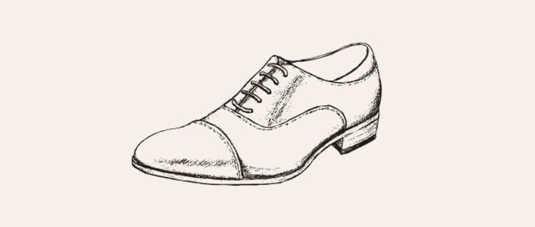 手繪牛津鞋 Oxford Shoes封閉片鞋翼
