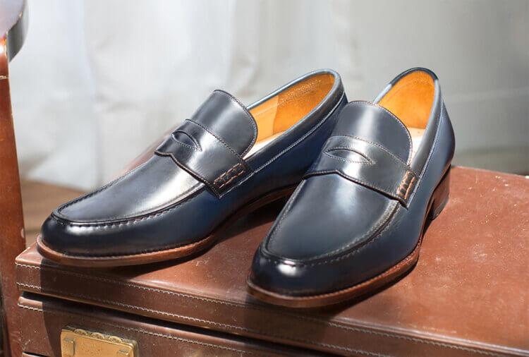 經典雙縫線便仕樂福鞋 藏青色