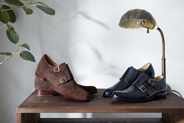 雙釦孟克皮底紳士鞋 經典黑色與反毛咖色