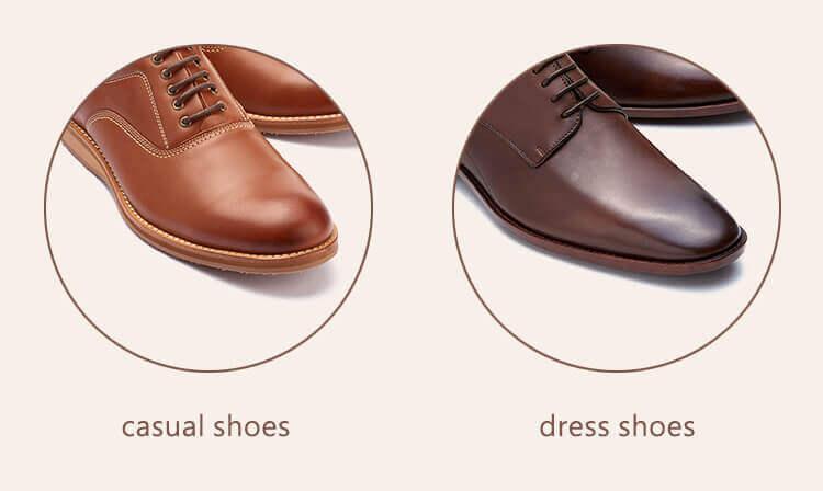 休閒皮鞋與紳士鞋的楦頭設計比較