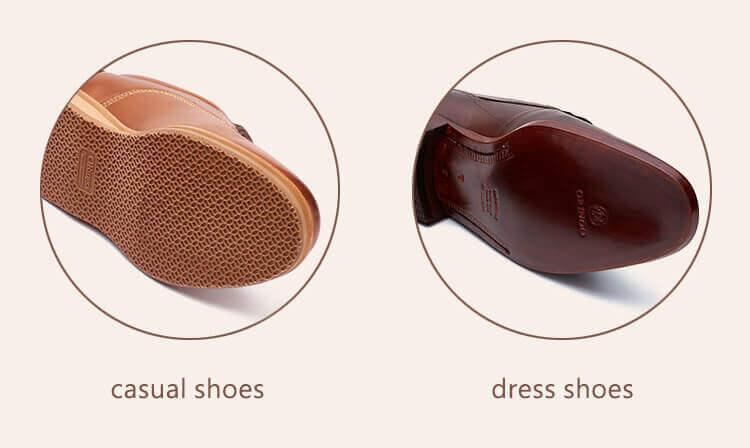 休閒皮鞋與紳士鞋的鞋底材料比較