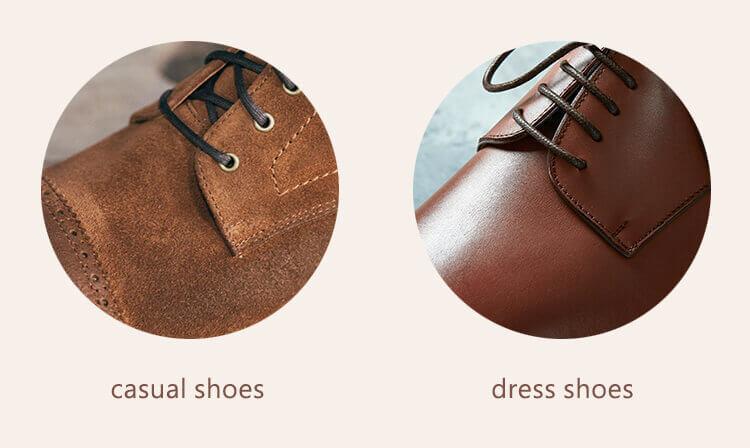 休閒皮鞋與紳士鞋的鞋面皮料材料比較