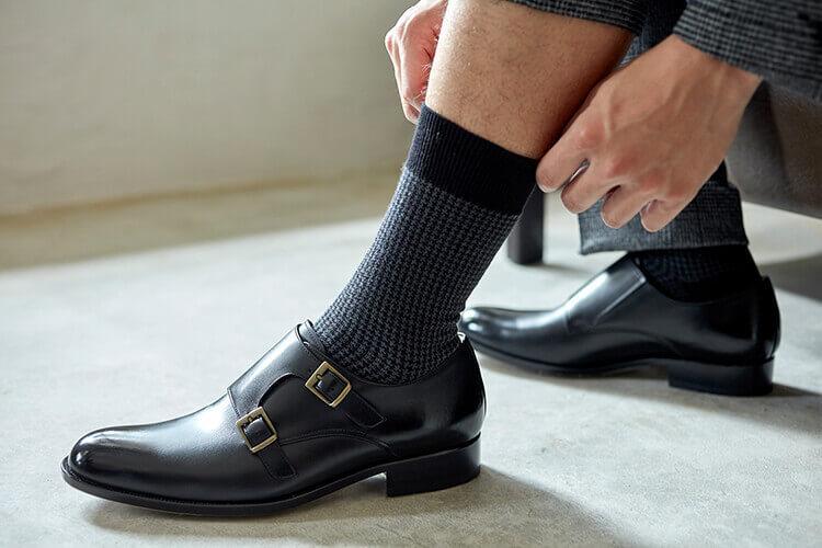 中階班推薦 千鳥格紋紳士襪