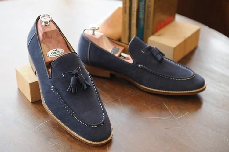 林果良品流蘇樂福鞋-海軍藍色