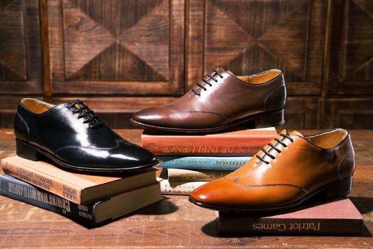 Wholecut 翼紋縫線牛津鞋-黑色、蜜棕色、咖啡色