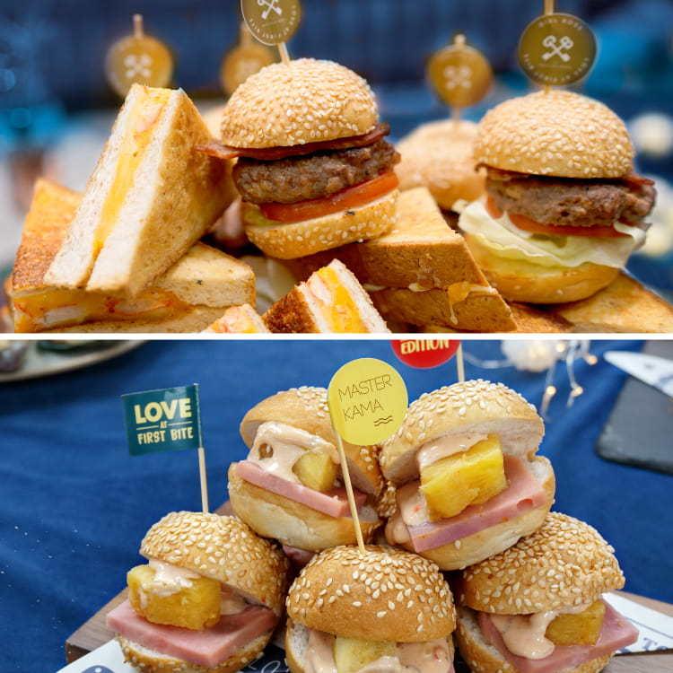 迷你一口漢堡小食 船P到會美食推介2021 Kama Delivery外賣服務專家