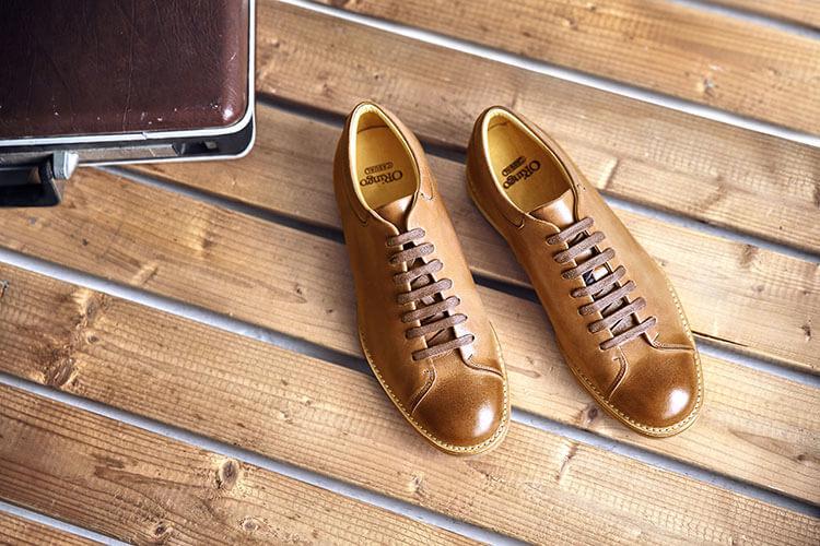 手作蠟感皮革休閒鞋 焦咖啡