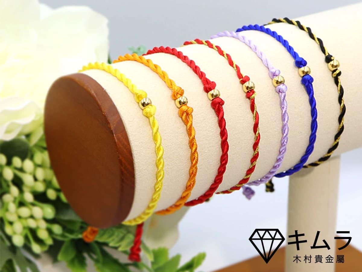 黃金轉運珠手繩,有多種顏色可挑選,可與幸運色搭配。