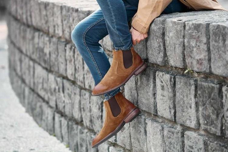 林果良品卻爾喜膠底靴/雀爾喜靴/切西爾靴-駱駝棕色