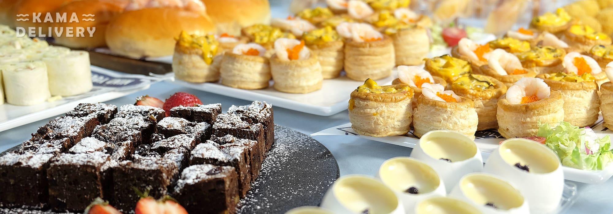 Kama Delivery全新推出的一口派對小食到會套餐,適合婚宴酒會、百日宴、店舖開張、企業簡介會、公司講座等場合享用