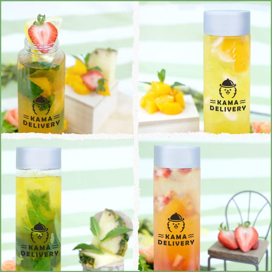 Kama Delivery推出的果茶到會飲品系列