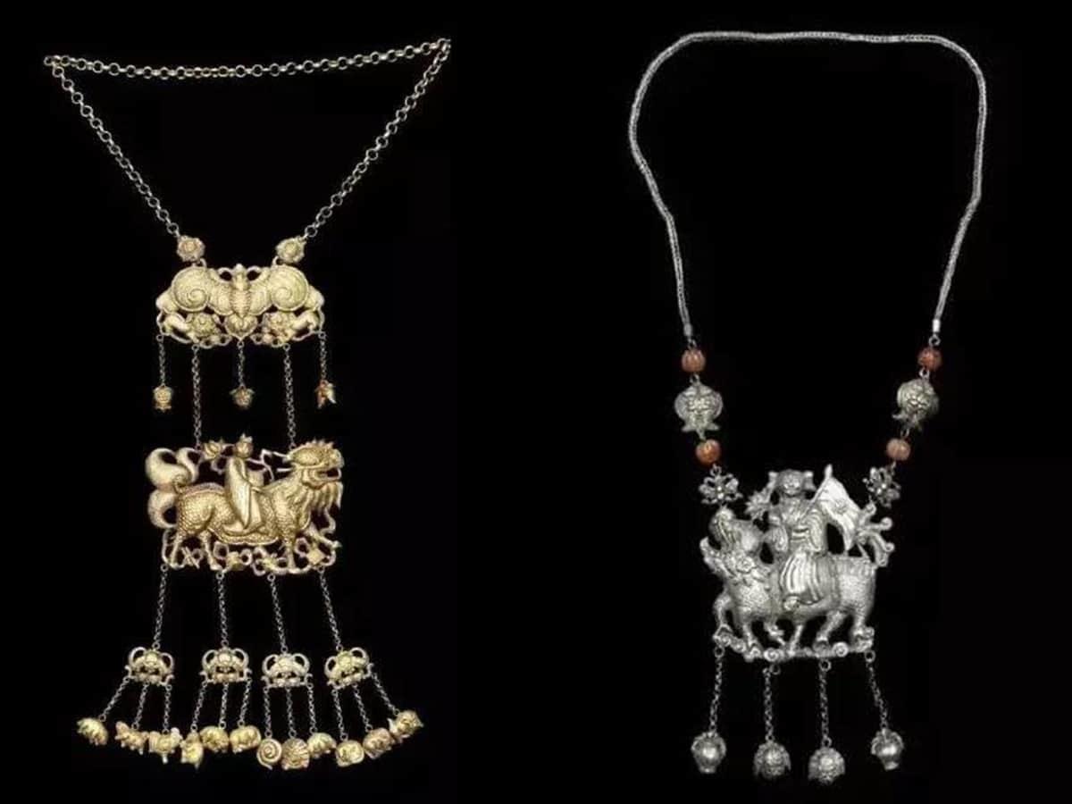 過去金鎖片其實多為銀鎖片,金的高貴讓它極少用在長命鎖。