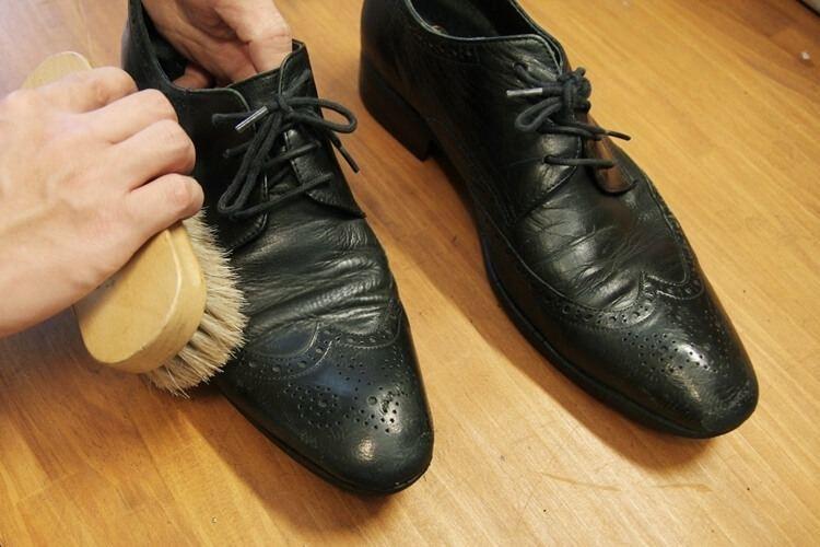 使用馬毛刷大面積的刷除黴菌