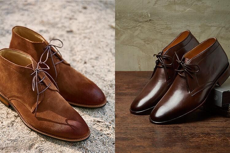 查卡靴(左)/ 沙漠靴(右) 比較圖