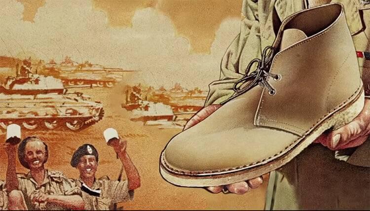 米色麂皮與生膠底為一開始的沙漠靴重要的特色
