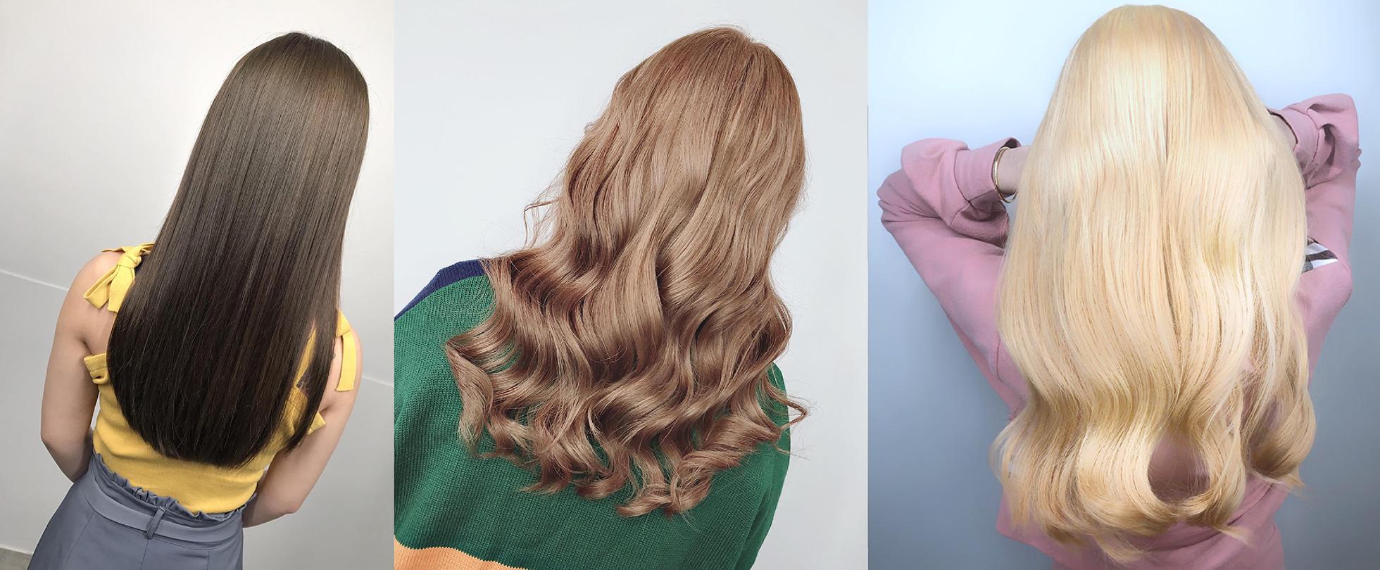 Ink Hair髮型作品集三張長髮女孩的背影照片
