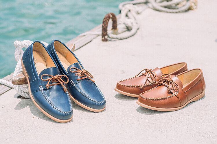 林果良品帆船鞋 Boat shoes 藍色與棕色