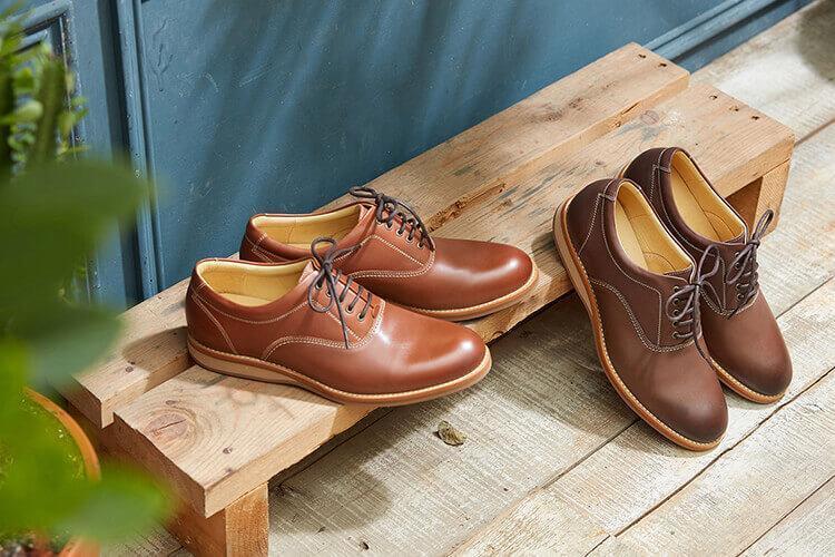 林果良品 牛津休閒鞋Casual Oxfords 焦糖咖色與深啡色