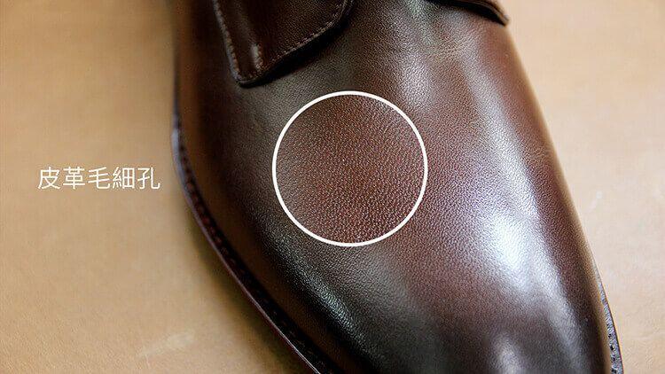 真皮的天然毛細孔孔的不規則排列