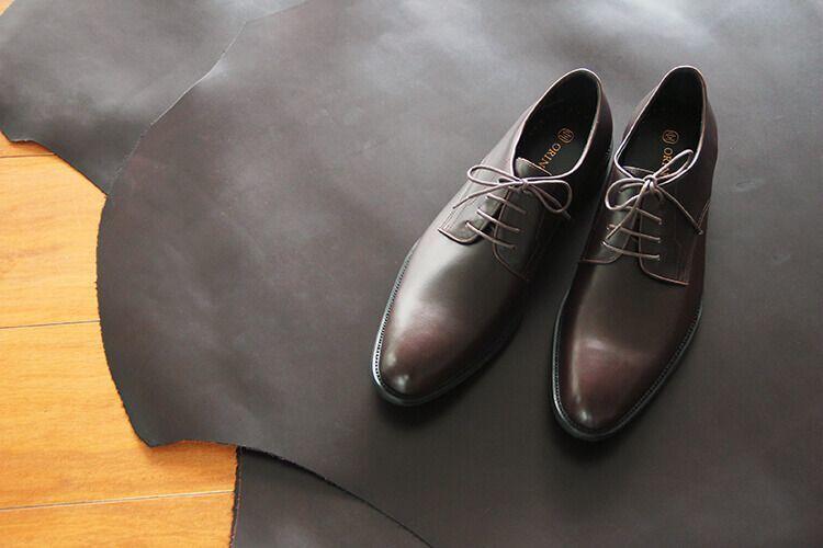 油感皮所製作的德比鞋