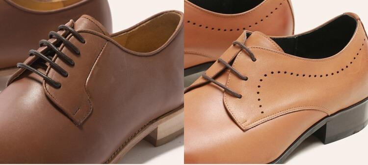 德比鞋與布呂歇爾的鞋身設計不同