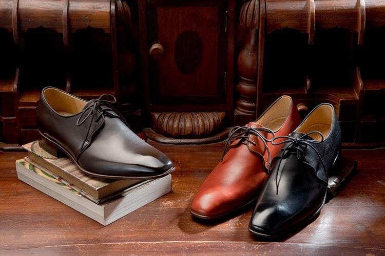 林果良品三孔裝飾的優雅X-Vamp 德比鞋