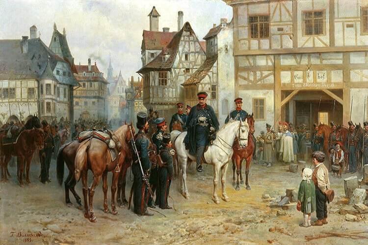 畫家Bogdan Willewalde所畫的布呂歇爾在滑鐵盧之役