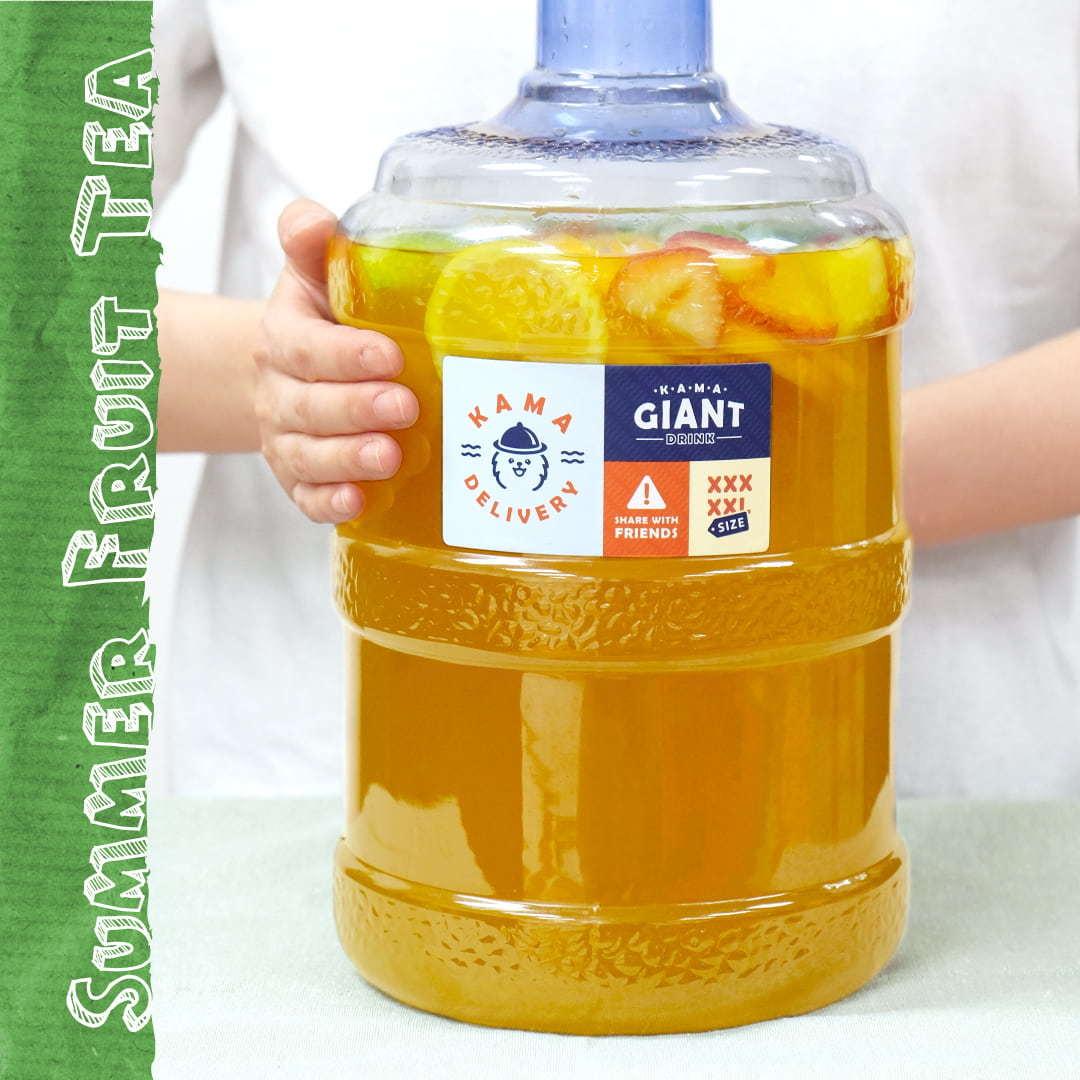 消暑之選|特大桶裝夏日水果茶|Kama Delivery到會飲品外賣服務