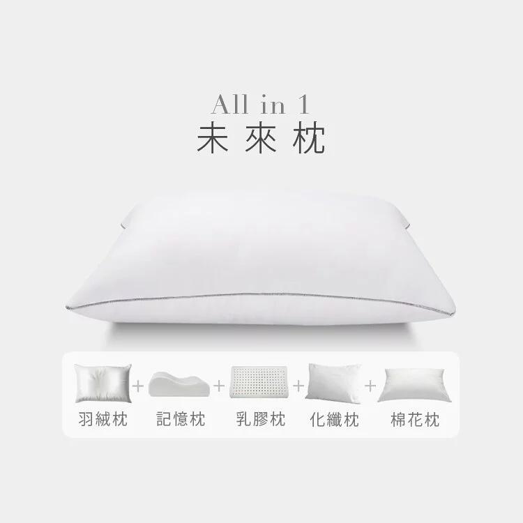 黏土般好塑形|記憶羽絨混血枕|未來枕